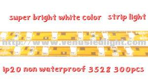 2012 hot led light strip 3528 yellow