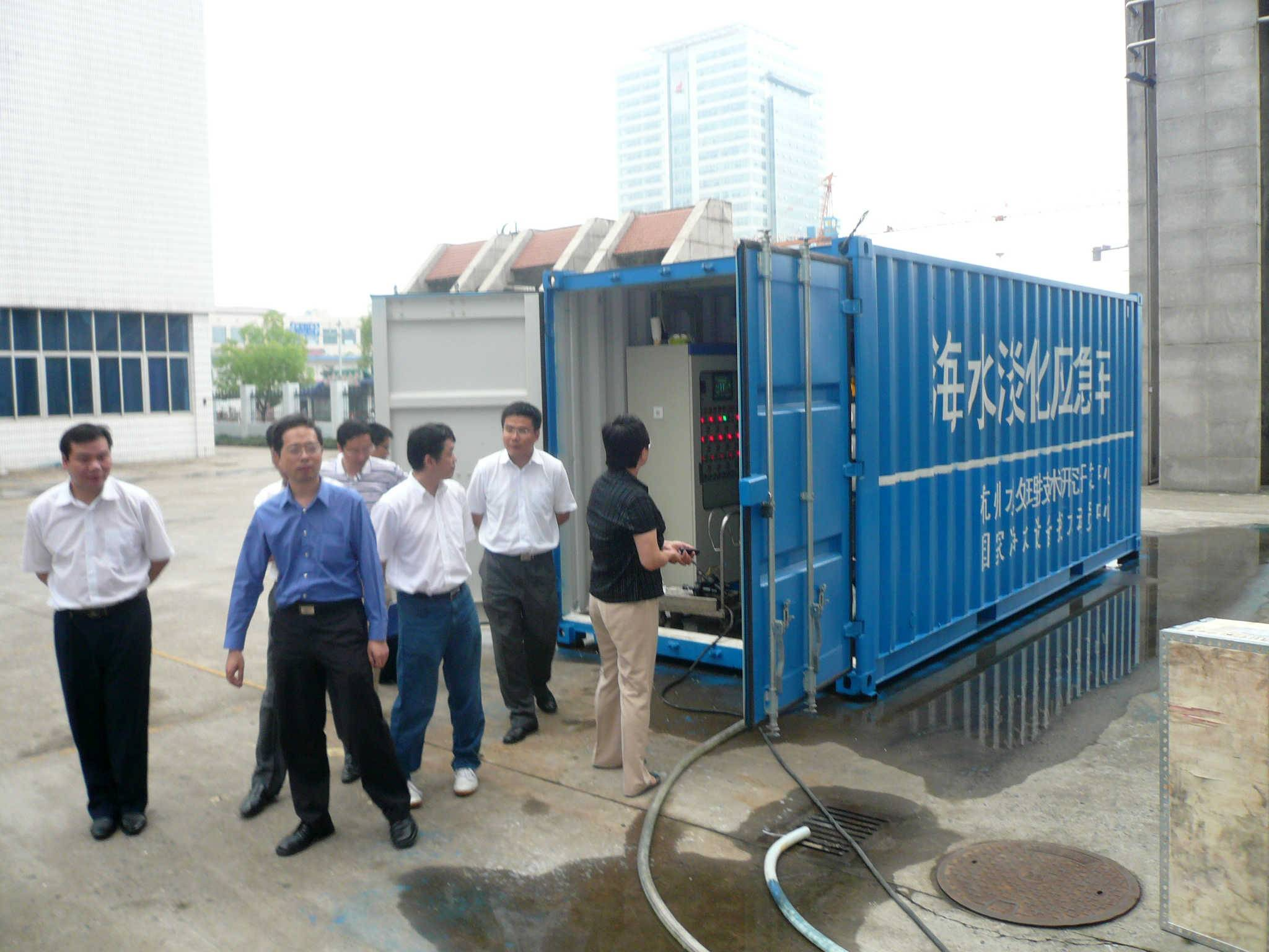 240TPD Containerized Sea water Desalination Equipment with RO System