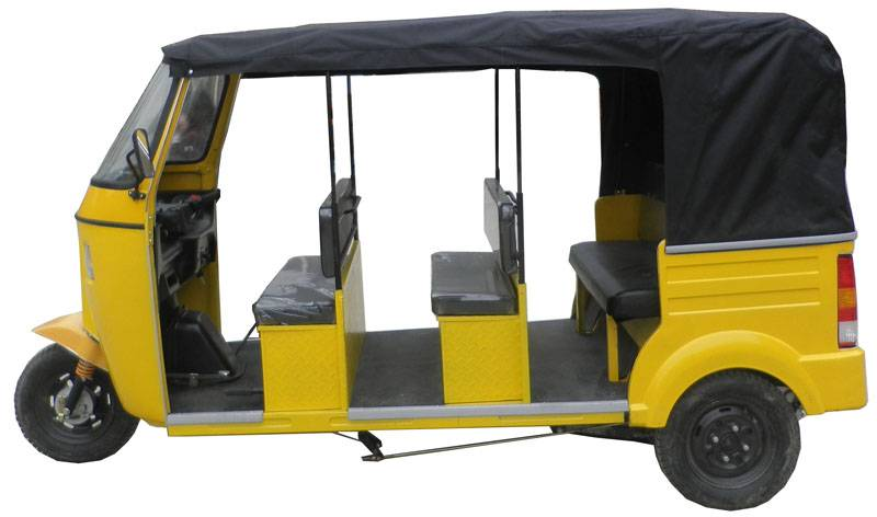 3Rows Bajaj Tricycle with Rear Engine, 3Rows Tuktuk