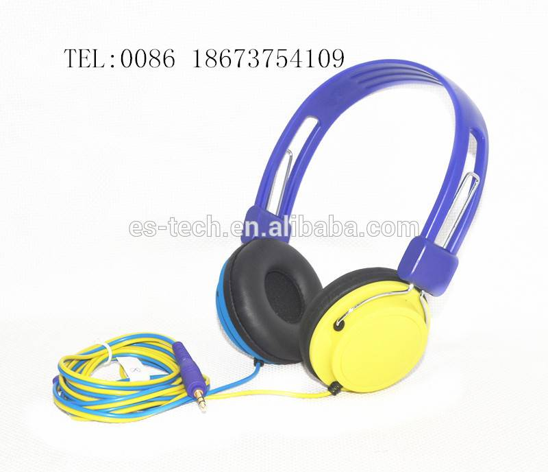 Colorful and promotional headphones with high performance quality