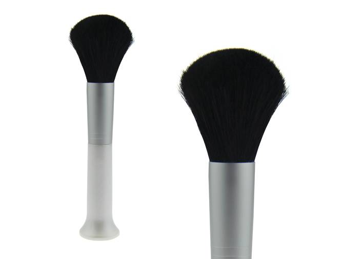 Normal Goat Hair Contour Blush Brush Upright Plastic Handle Brush Aluminum Ferrule