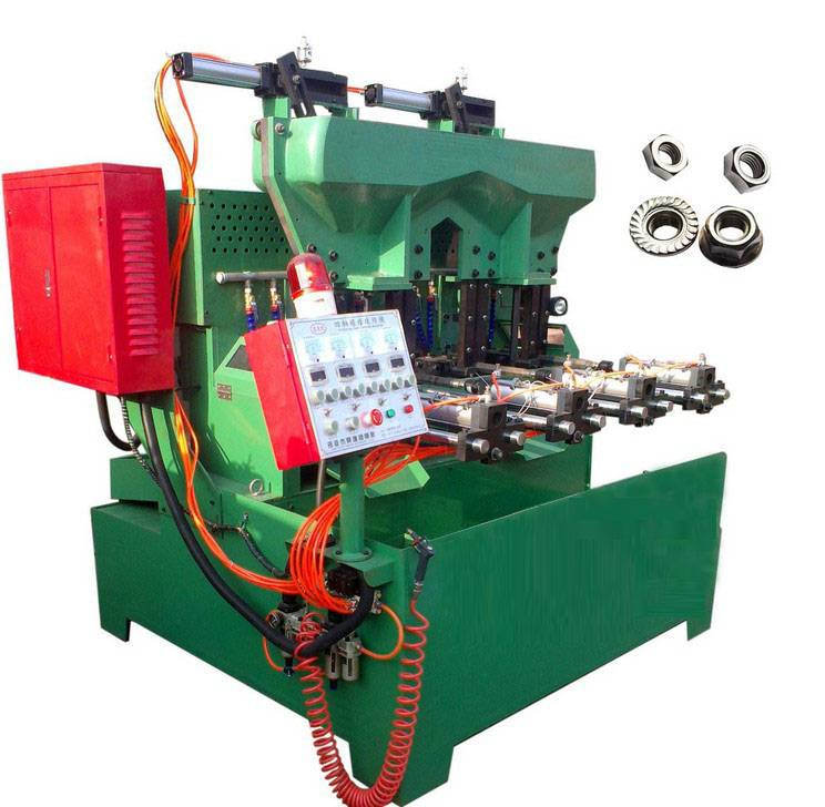The vapour-pressure type 4 spindle flange & hex nut tapping machine