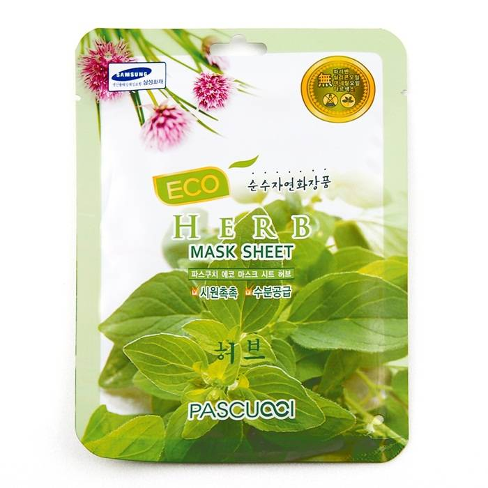 [KOREAN] Amicell Pascucci Skin Care Essence Refreshing Eco Mask Herb