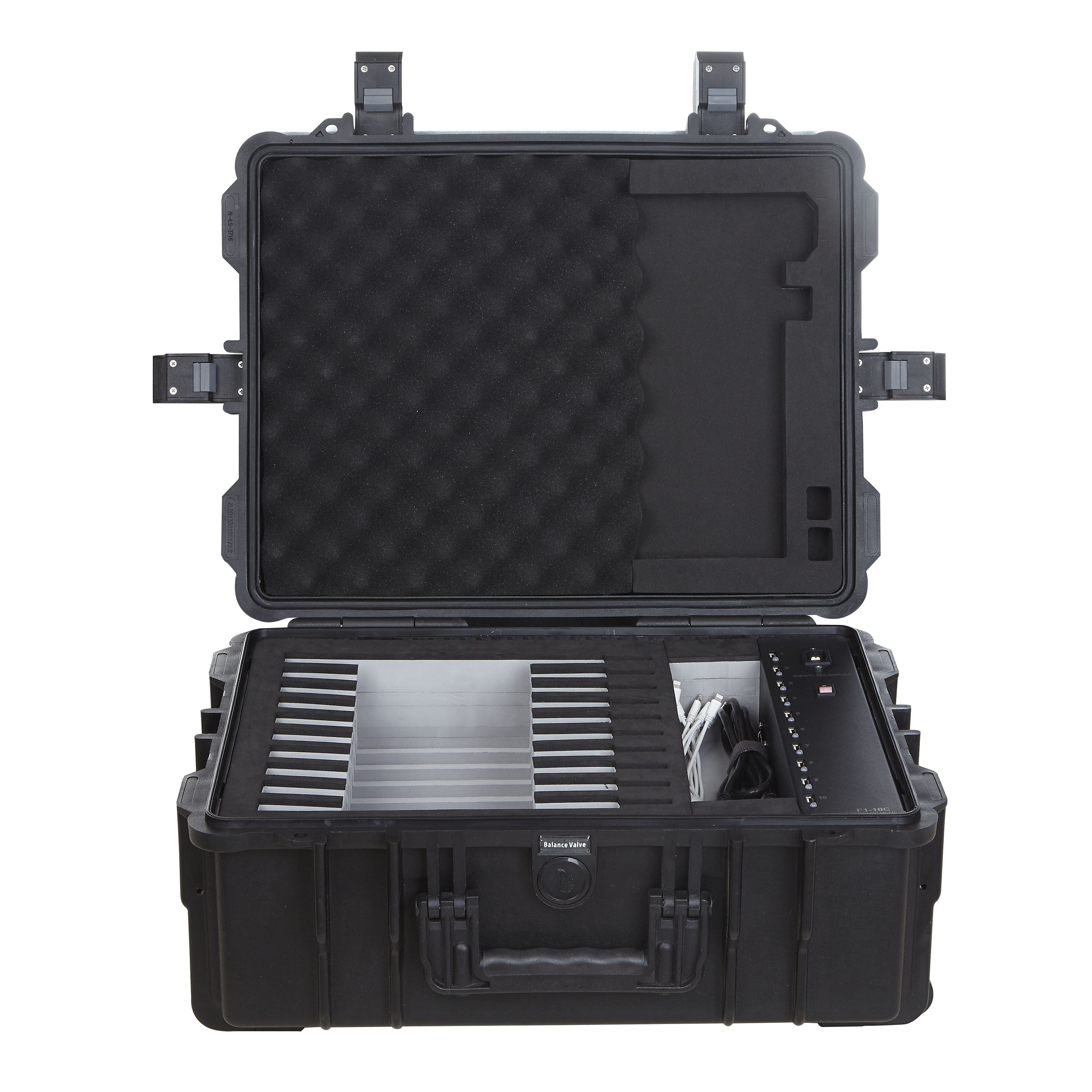 F1-10C Portable Tablet Charing Cart for School - iTeach Furniture