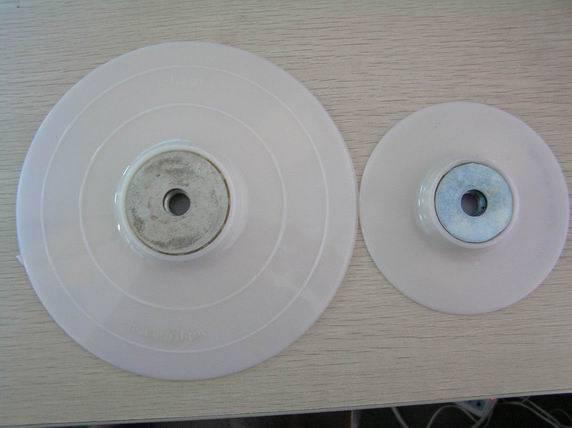 white backing up pad for fiber disc