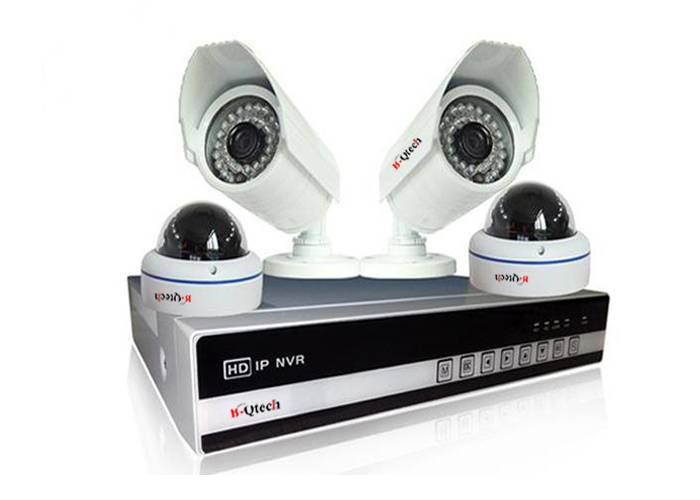 HD 4CH 960P NVR kit 4pcs 1.3MP 960P IP IR Outdoor Waterproof and Vandal-proof cameras supportP2P/p