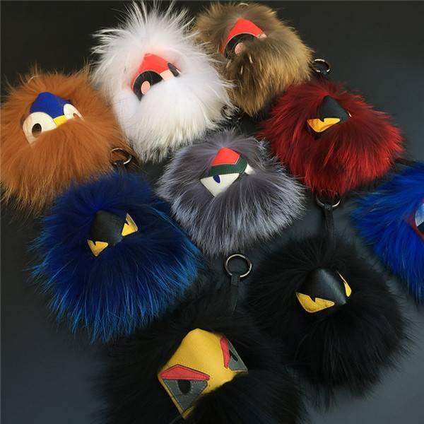 Fur Monster Key rings