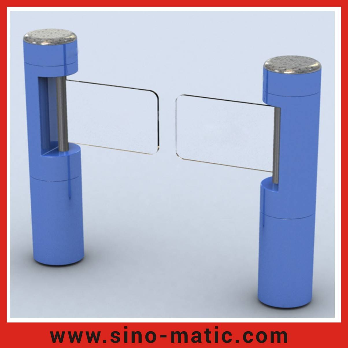 Wholesale price automatic toughened glass swing barrier gate