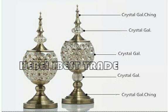 Offer Glass Table Ornaments for European style