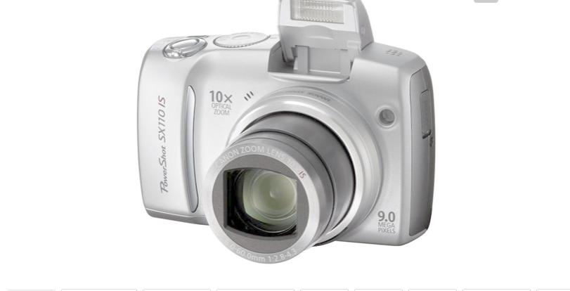 Small digital camera 2000 megapixel camera, self - timer, silver grey