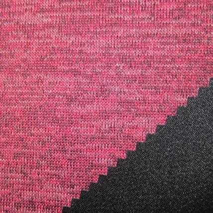 three color imitation wool velvet fabric+tpu+75D bird eye mesh