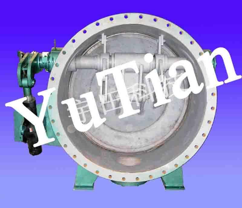 butterfly valve, lever link butterfly valve, stove pressurization valve, stove de-pressurization