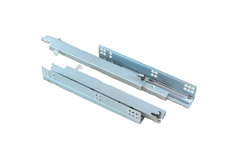 full extension concealed soft close drawer slide with adjusting pin
