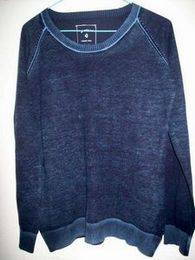 Mens acid wash pullover