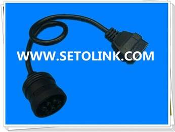 OBD 16 Pin to J1939 DEUTSCH 9 Pin Adapter Test Cable Diagnostic OBD/OBD2 Car Scanner Tool Cable