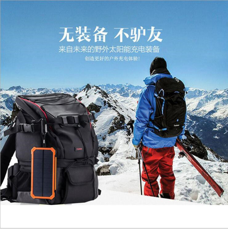 outdoor hiking emergency mobile phone charger solar power bank