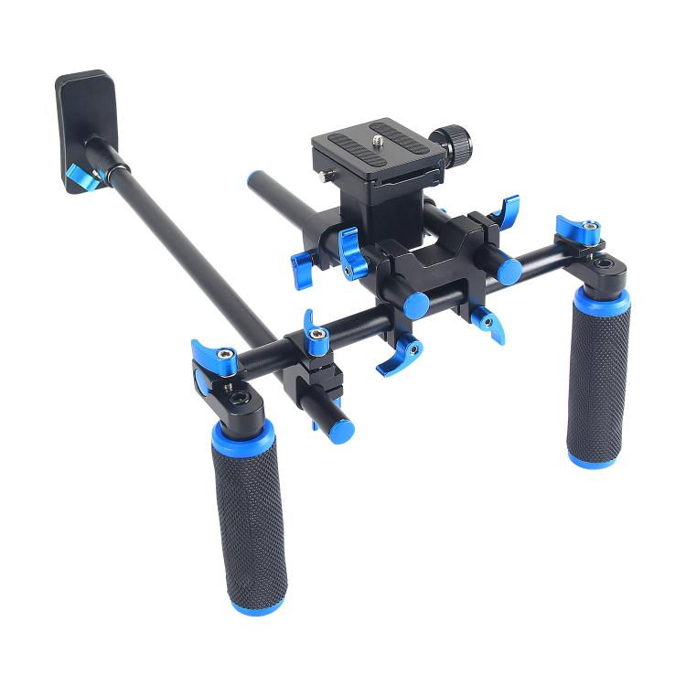 YELANGU Antislip Design With 2-Axis Standard Gimbal Dual-hand Handgrip Shoulder Rig For DSLR