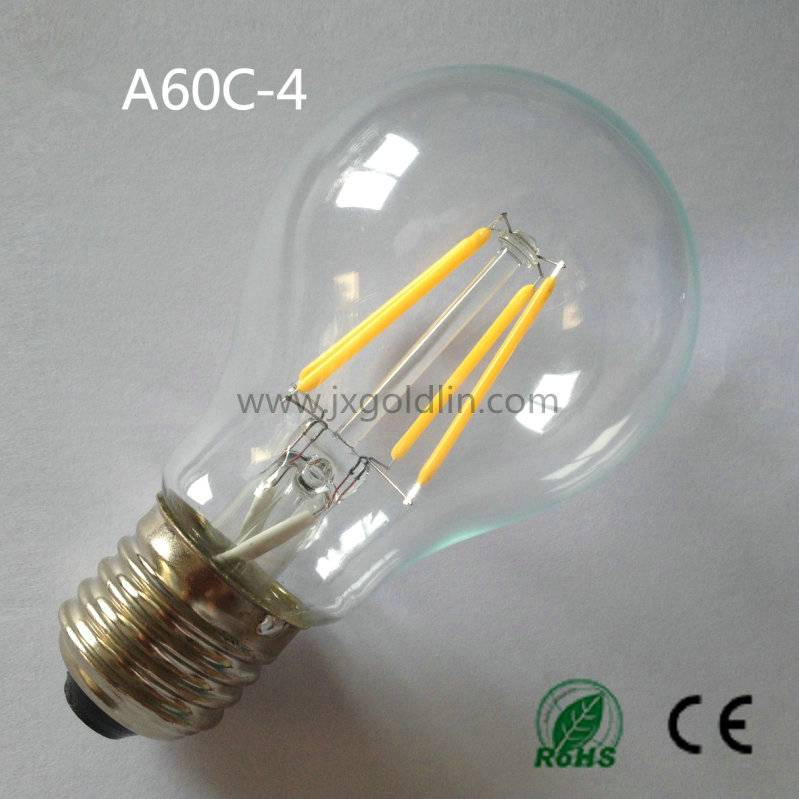 LED FILAMENT LAMP A60C-4W with CE and ROHS