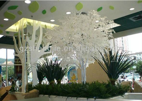 artificial banyan tree(white color for hotel decoration)