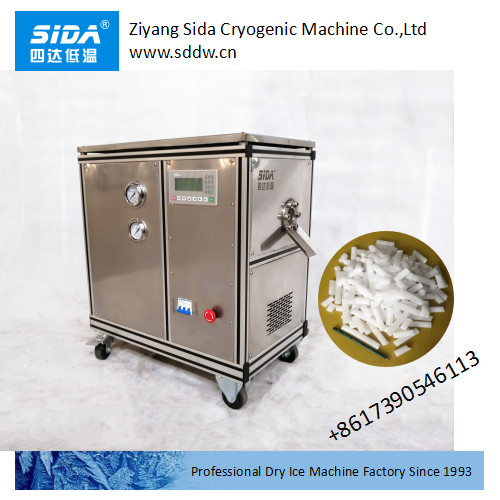 sida factory price of full auto small dry ice pellet maker machine 30kg/h