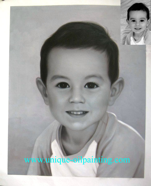 portrait oil painting from customer's photo