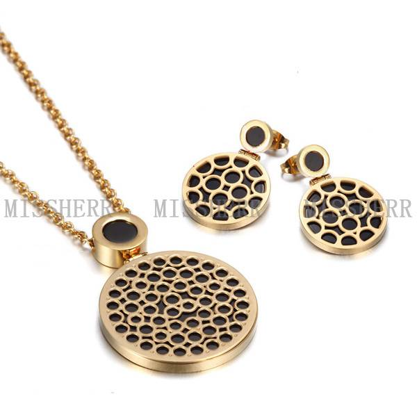 Fashion jewelry circlr pendant necklace
