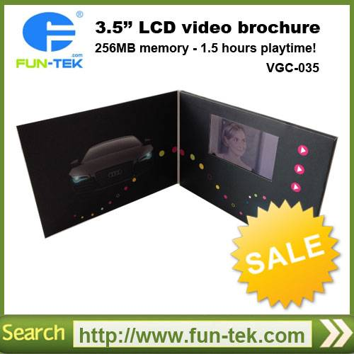Popular 3.5 inch Video Greeting Cards in Print VGC-035