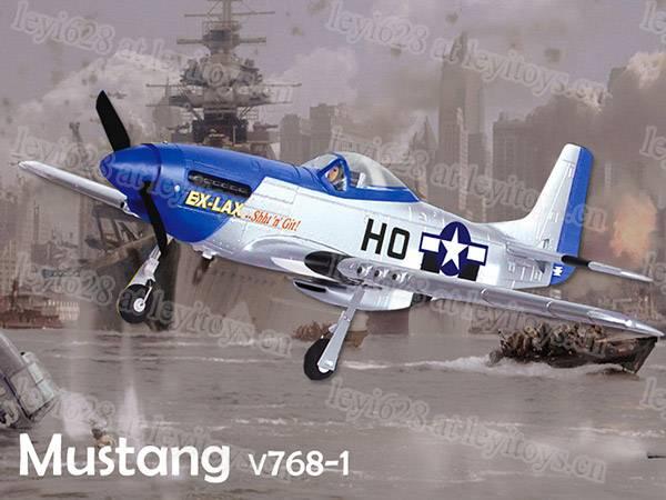 2.4G 4ch Mustang P51D 750mm Warbird (768-1A),RC Hobby