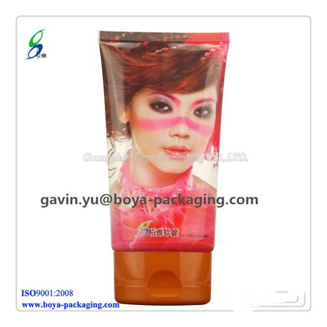 vivid character cosmetic tube with flip top cap flexo-printing
