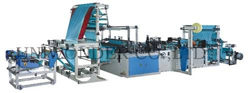 Microcomputer fully Automatic Ribbon-through Garbage Bag-making Machine