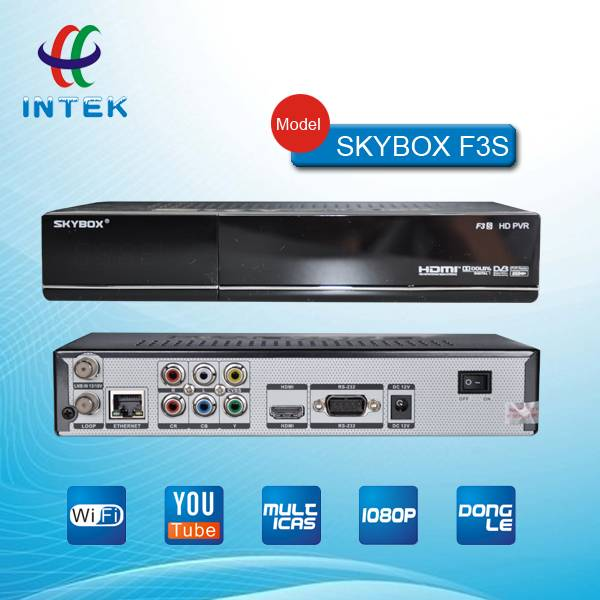 Factory wholesale skybox F3/ F3S hd satellite receiver supporting GPRS+HDMI+WIFI+Youtube+CCCam