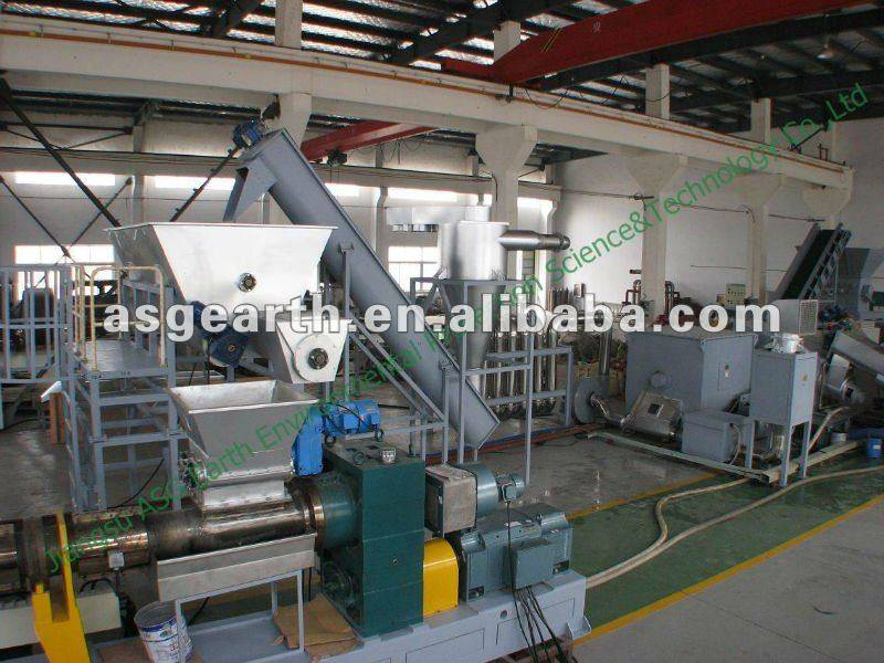 Plastic recycle granulate plant