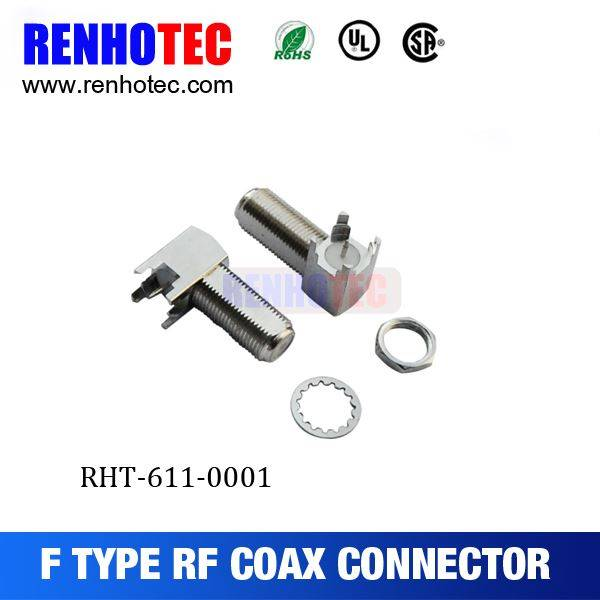RF Connector Female F Connector For PCB Mount