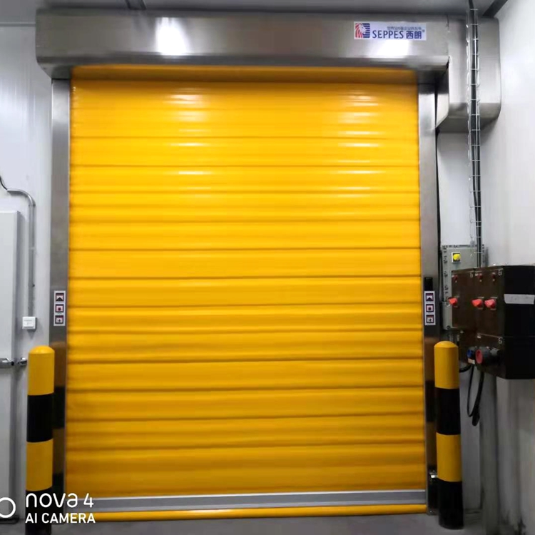 industrial electric thermal insulated pvc fabric high speed door