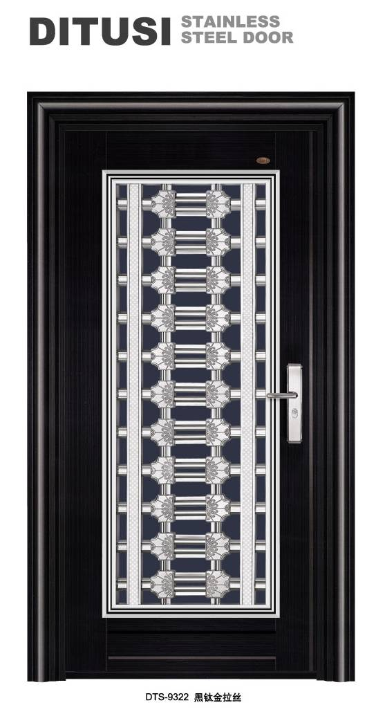 2016 Commerical black color stainless steel door