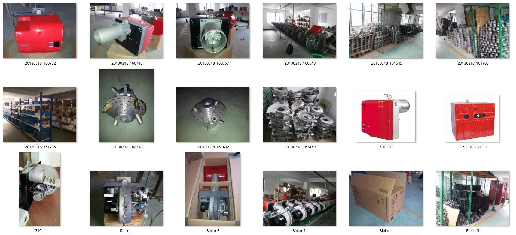 Selling Riello Burner and Burner Spare Parts from China Company