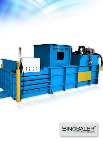Manual-tie Horizontal Baler, Sinobaler Recycling Machine, Horizontal Baling Machine
