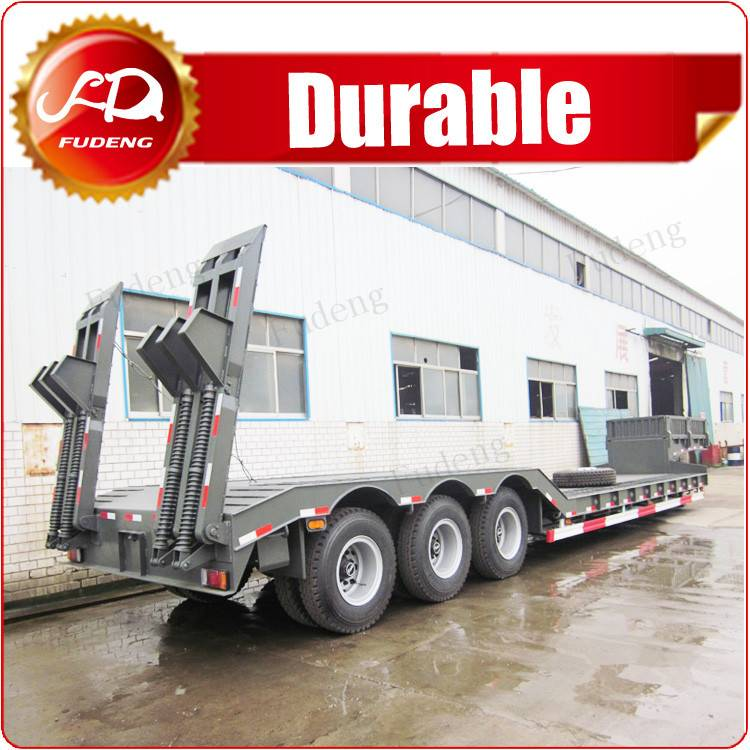 Cheap china low bed semi trailer trucks export to Africa