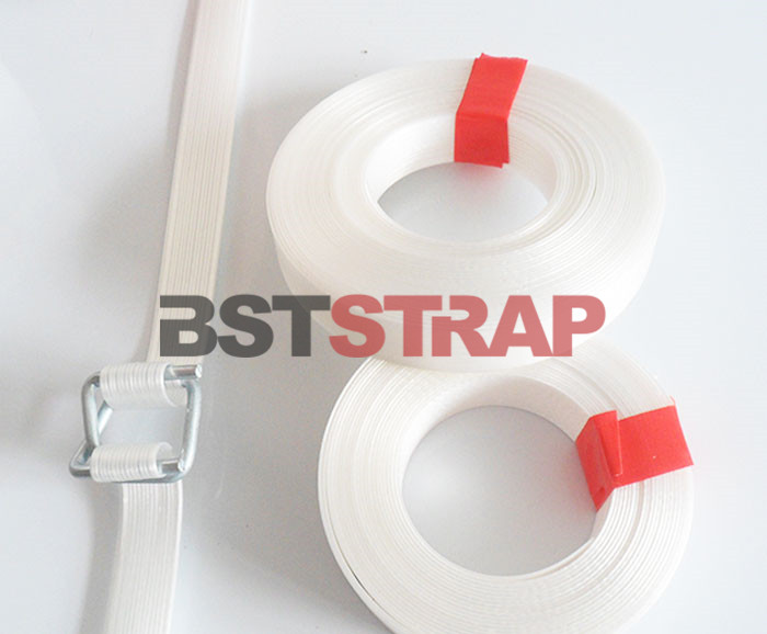 Reliable manufacturer of 13mm 32mm composite strap Polyester cord strap in China