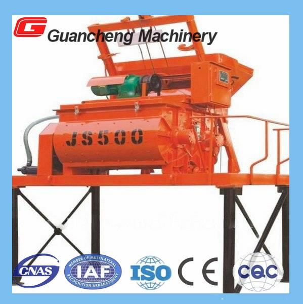 JS1000 Electric Twin shaft Concrete Mixer(1000L discharging capacity)