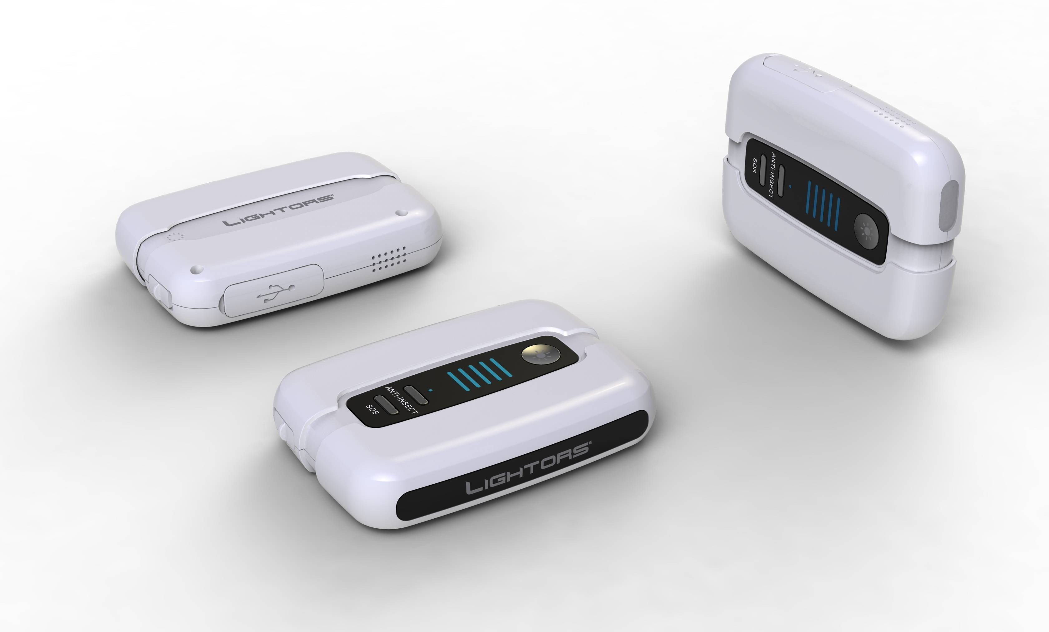 Self-rechargeable external battery pack with hand gripper