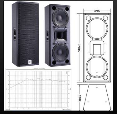 Two-way full range loudspeaker CV-123B