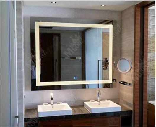 Mgonz belt led lighting anti-fog bathroom mirror wall-mounted