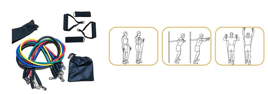 Fitness Tube Chest Expander Exercise Chart