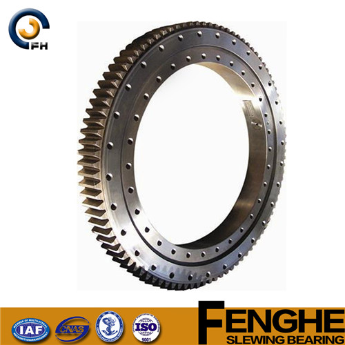 high quality low price mechanical double row slewing bearing