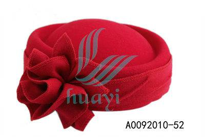 Ladies red felt party hat wholesale