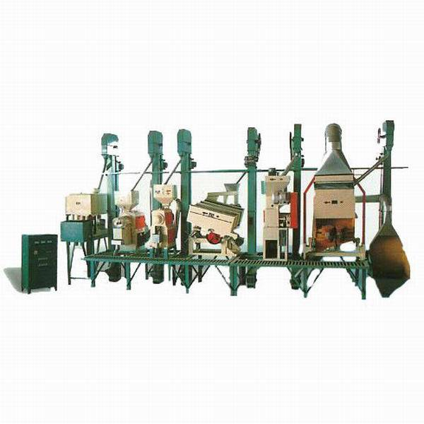 Integrated rice milling machinery