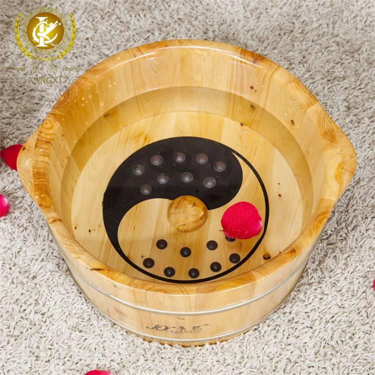 TaiChi foot basin wooden wash basin foot massage basin