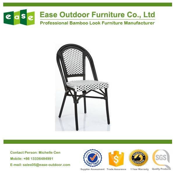 supplying high quality stackable bamboo look rattan chair model No. E6017