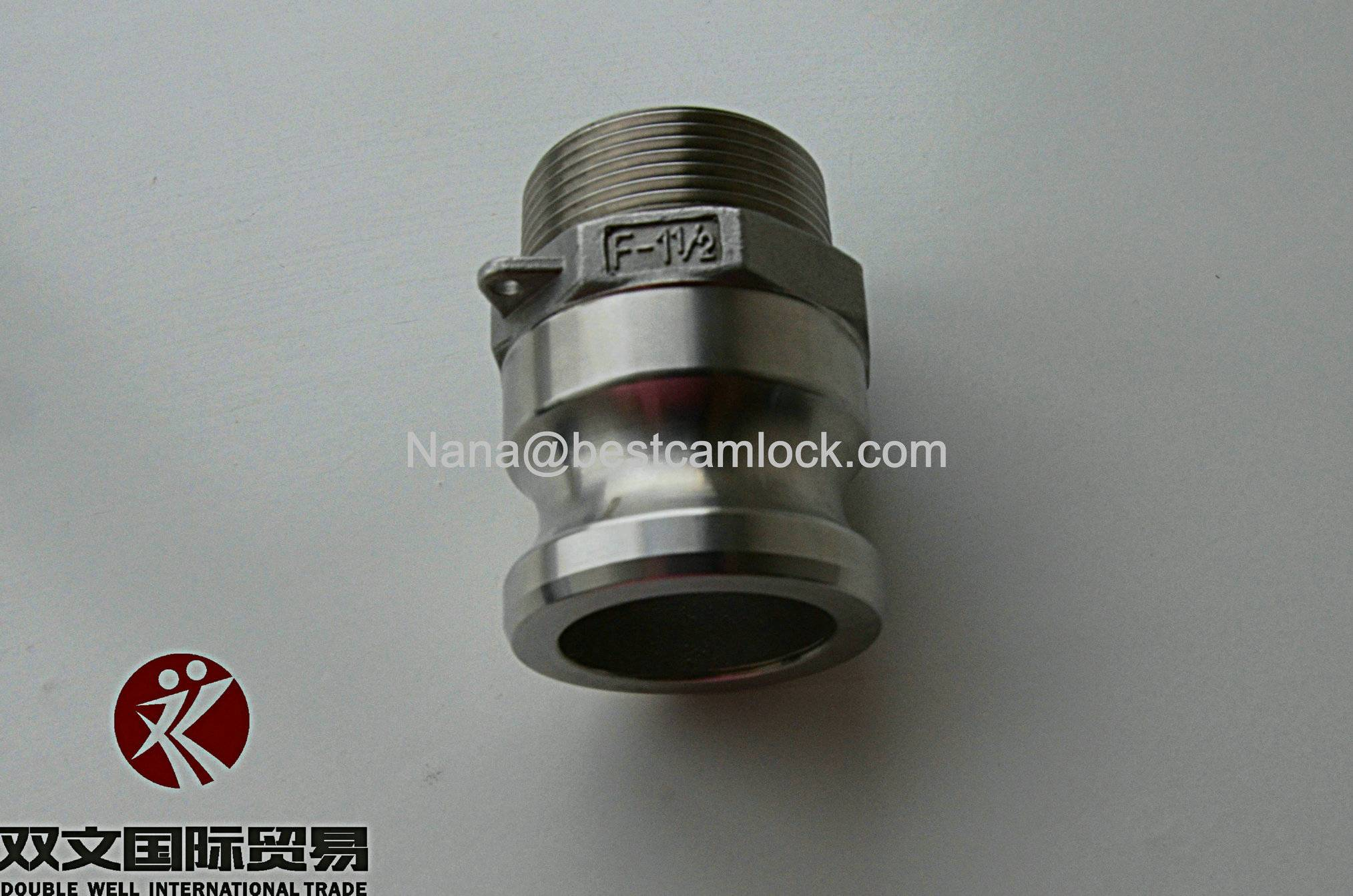 male thread stainless steel 316/304 camlock coupling adapter F